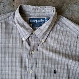 Polo Ralph Lauren Plaid Shirt Gray Blake Large